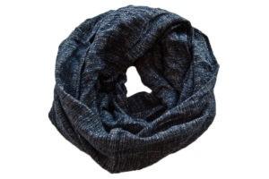 шарф снуд синий